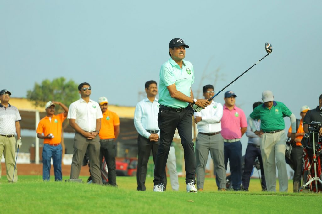 Kapil Dev at Vooty Golf County, Hyderabad