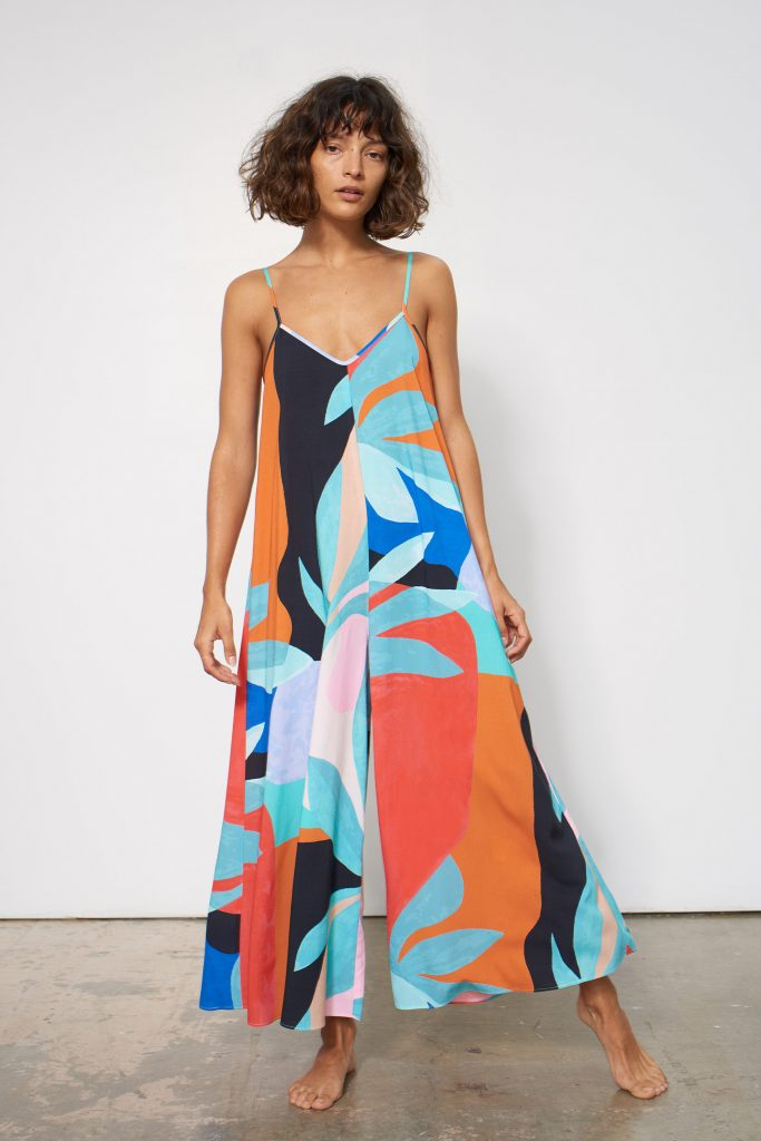 Carly jumpsuit in agave print by Mara Hoffman