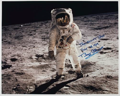 'Tranquility Base' Signed Photograph Of Buzz Aldrin Taken By Neil Armstrong