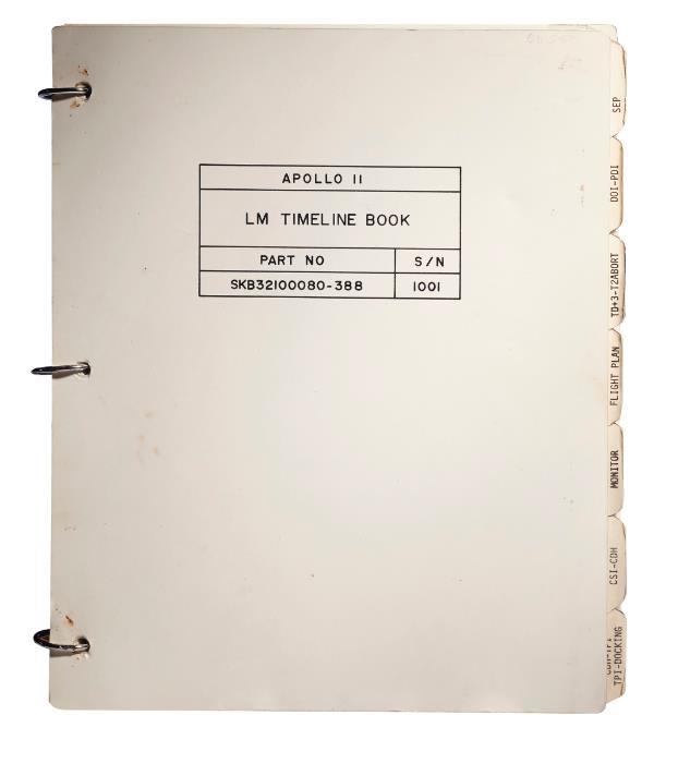 Apollo 11 Lunar Module Timeline Book. [Houston]: Manned Spacecraft Center, Flight Planning Branch, June 19-July 12, 1969.