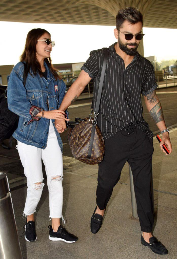 Anushka Sharma & Virat Kohli at the airport