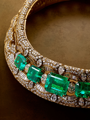 Choker in gold with emeralds and diamonds, 1988. BVLGARI Heritage Collection.