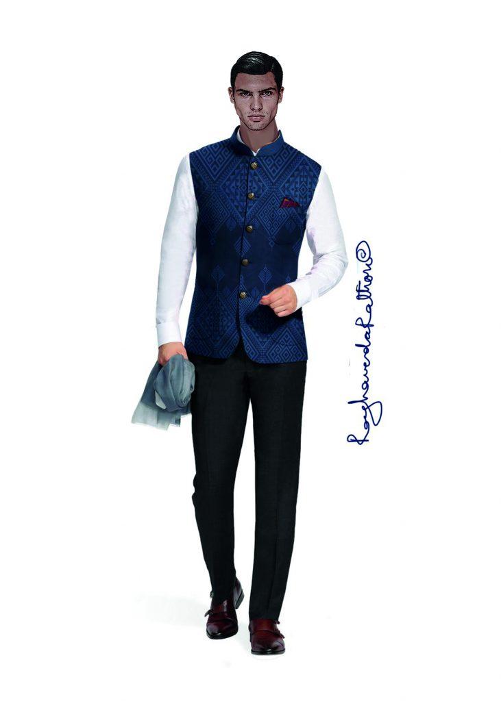 Classic evening look for Shikhar Dhawan