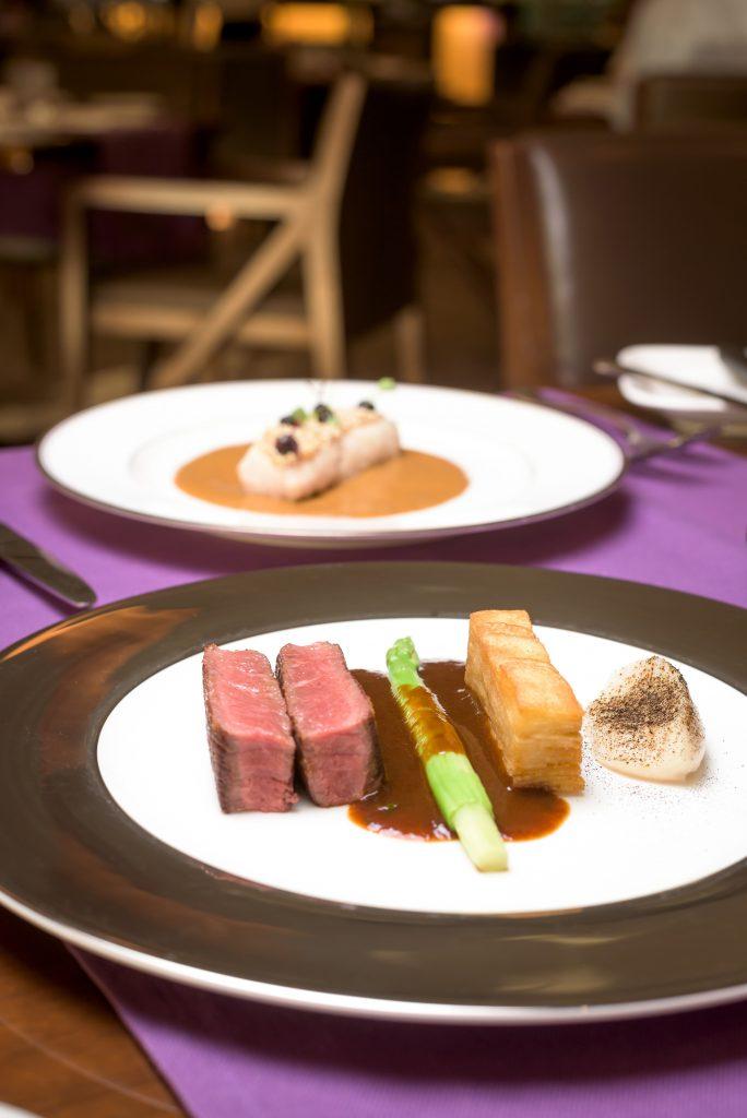 'France': Lamb Loin, onion creme, potato gratin, mint jus