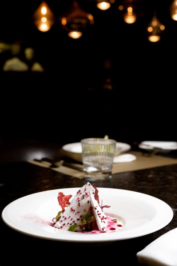 'Germany': Bavarian Creme, raspberry, thyme
