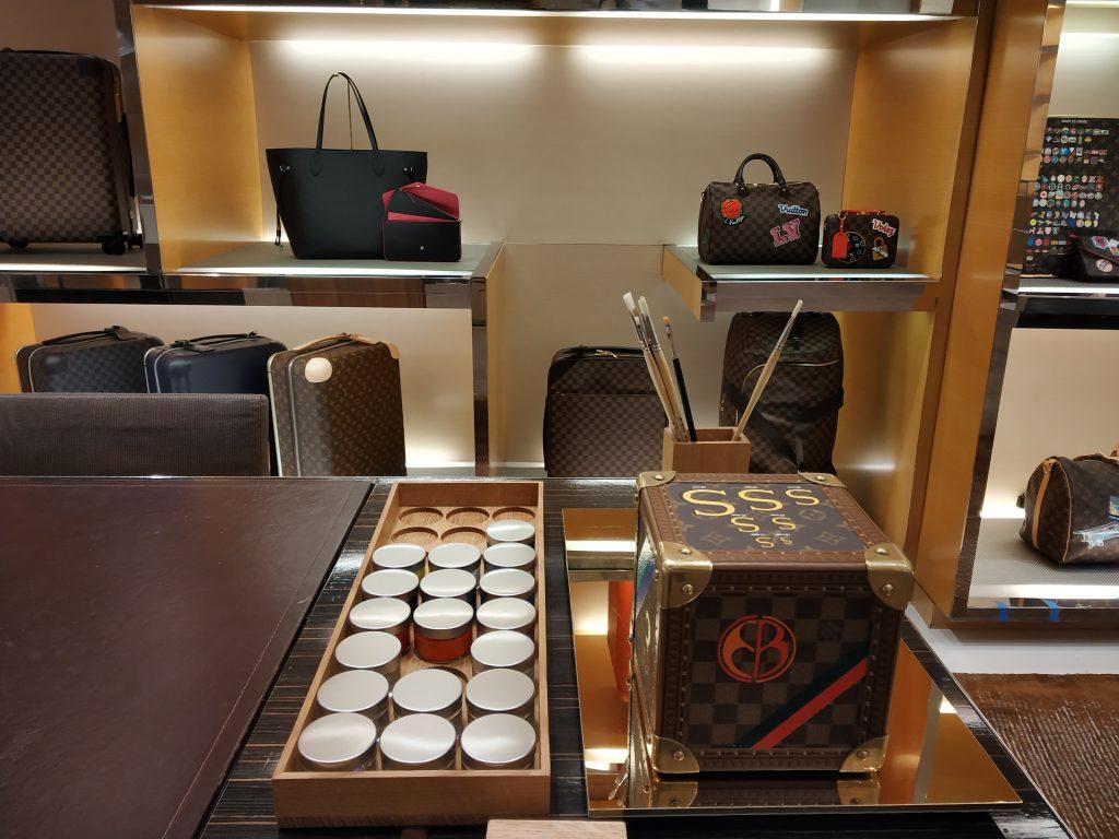 Louis Vuitton hand-painted handbags