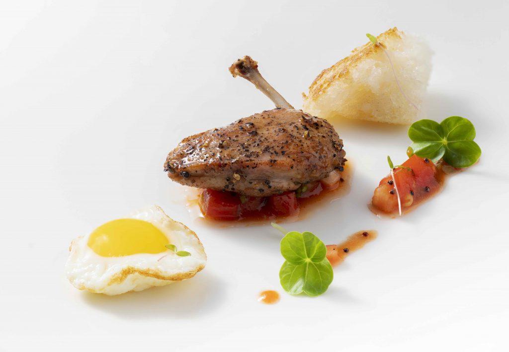 Pan-seared quail