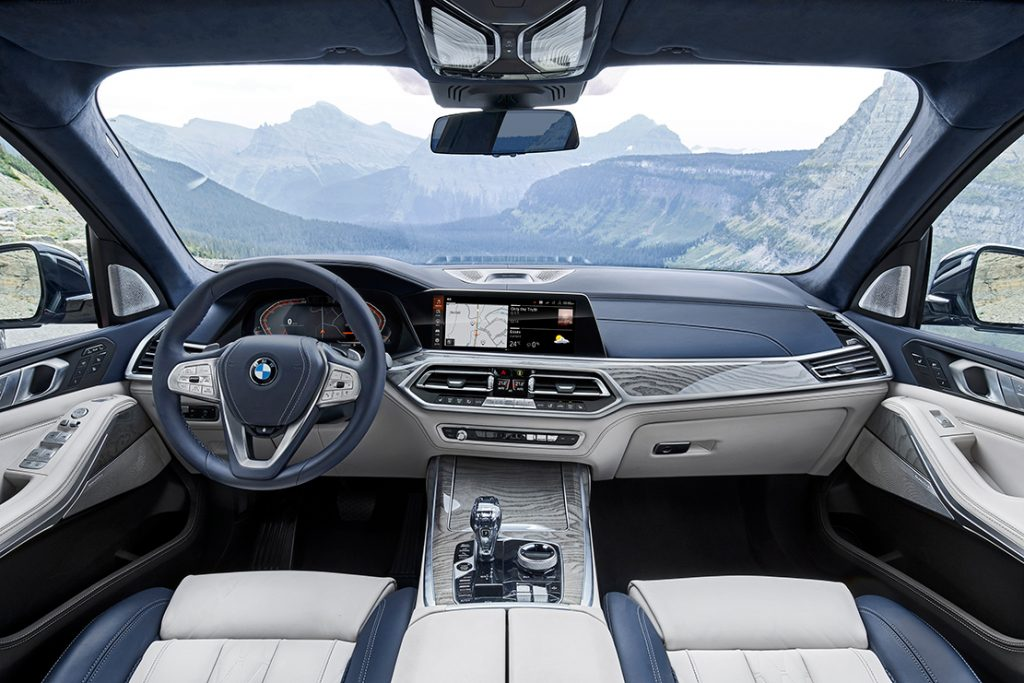 Interiors of the BMW X7