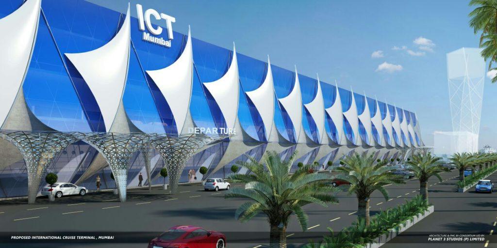 Render of proposed Mumbai International Cruise Terminal