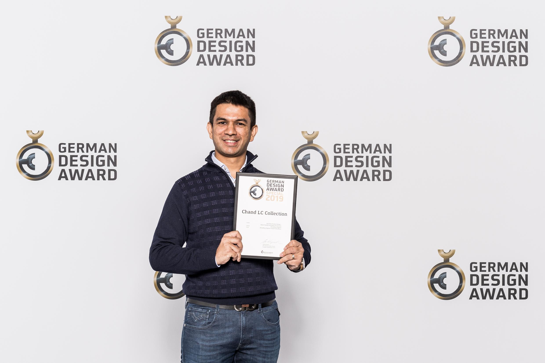Ayush Choudhary winning the German Design Award