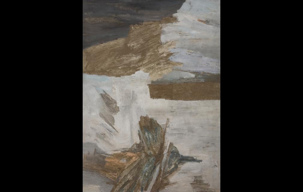Lot 56- Ram Kumar, Leh, 1980, Oil on canvas, 72.75 x 51.5 in, Rs90,00,000-1,20,00,000
