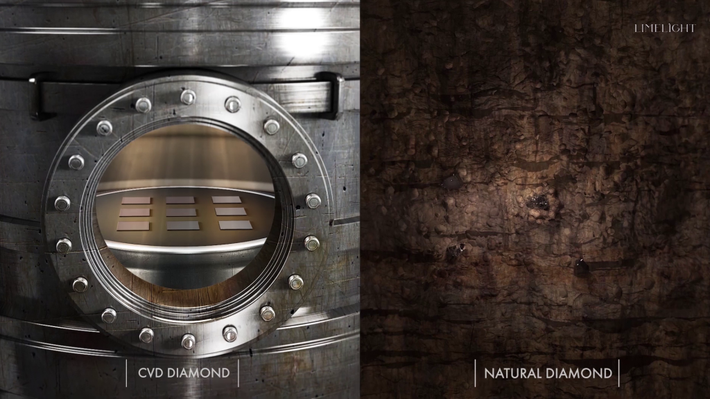 CVD Chamber vs Natural Diamond Growth