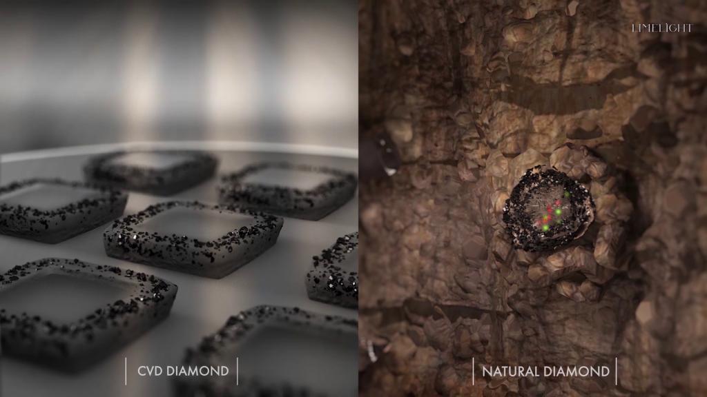 CVD Chamber vs Natural Diamond Growth
