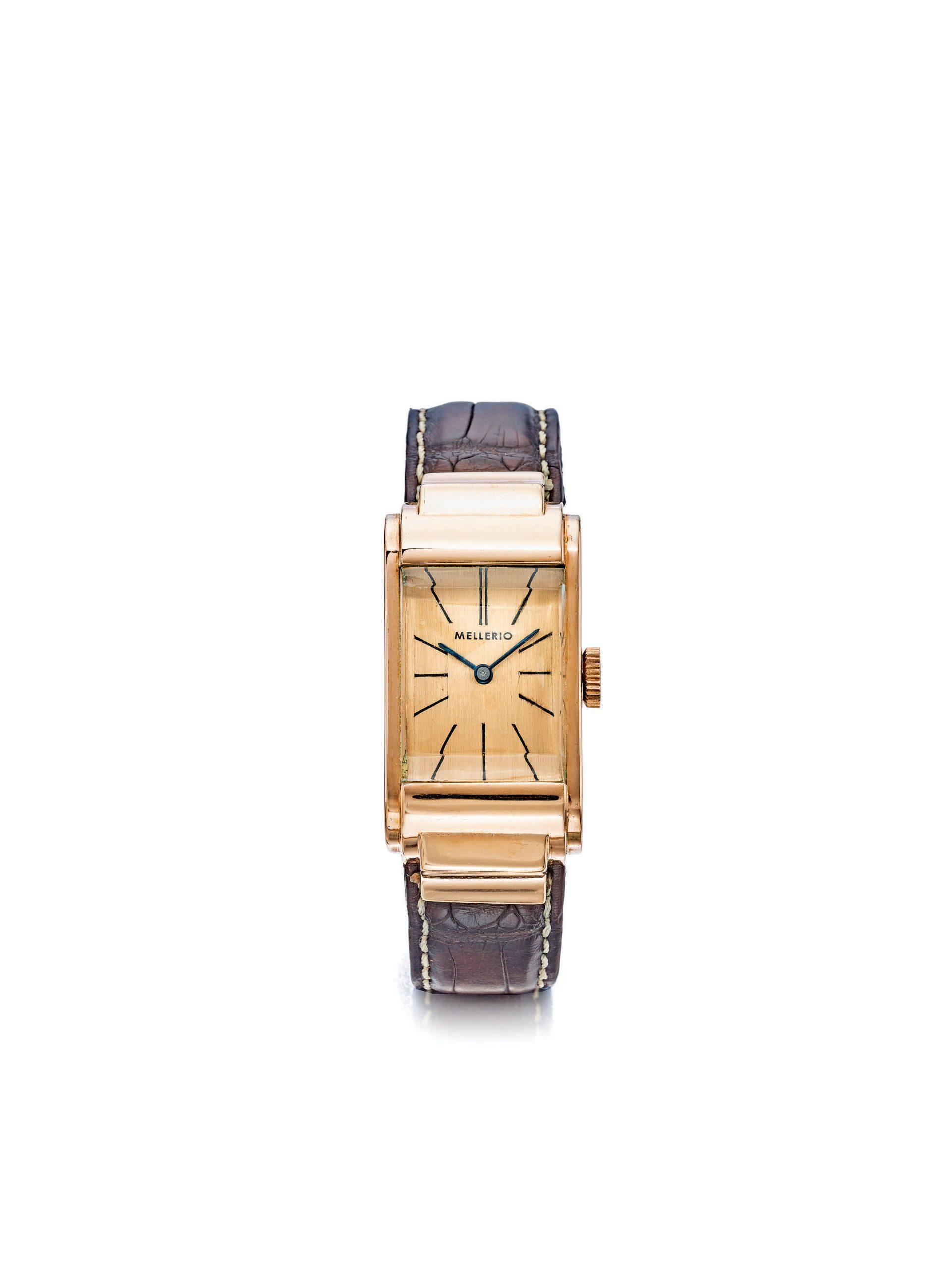 Mellerio Pink Gold Rectangular wristwatch