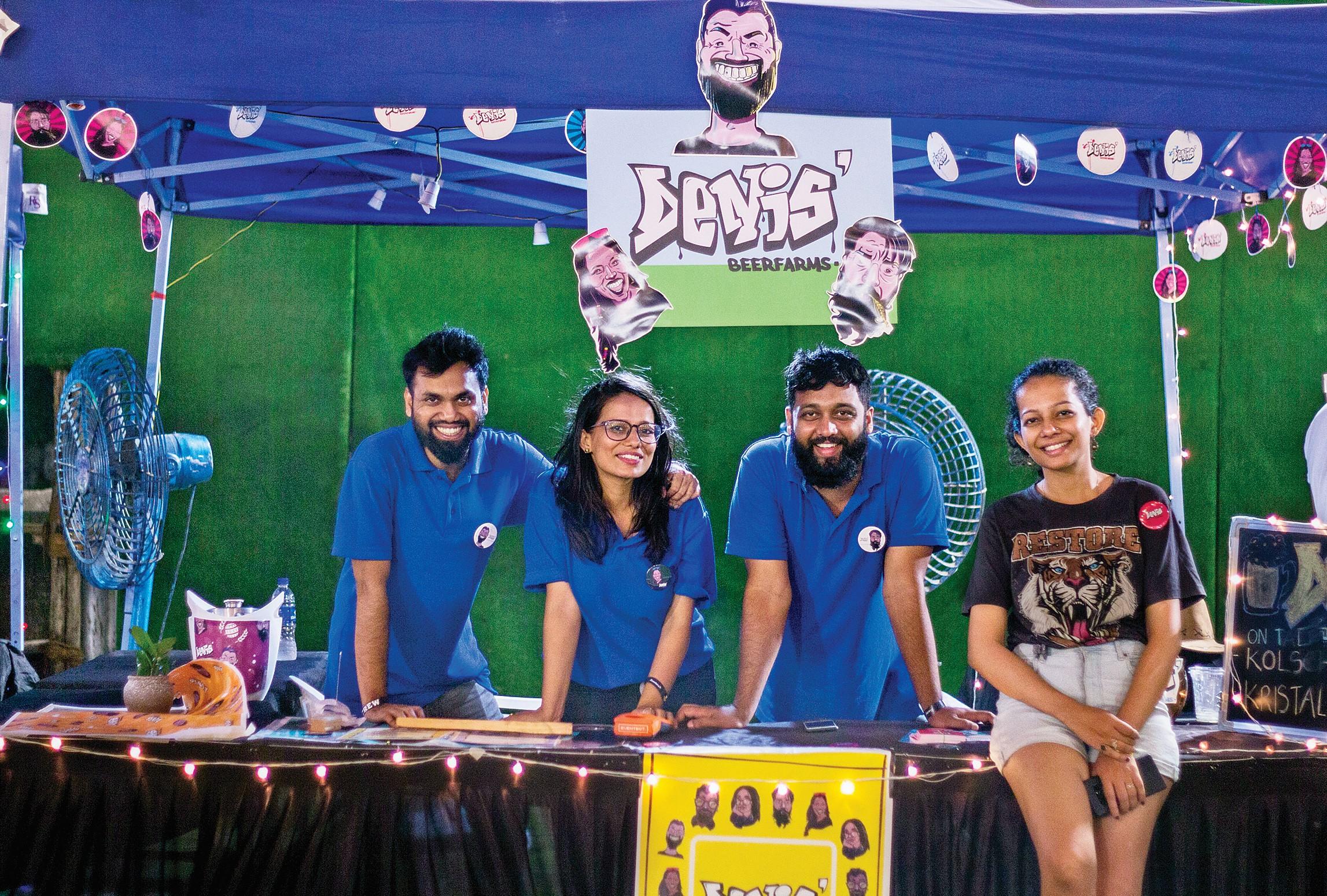 Denis Beer Farms team serving Beer at Mumbai Beer Festival 2019