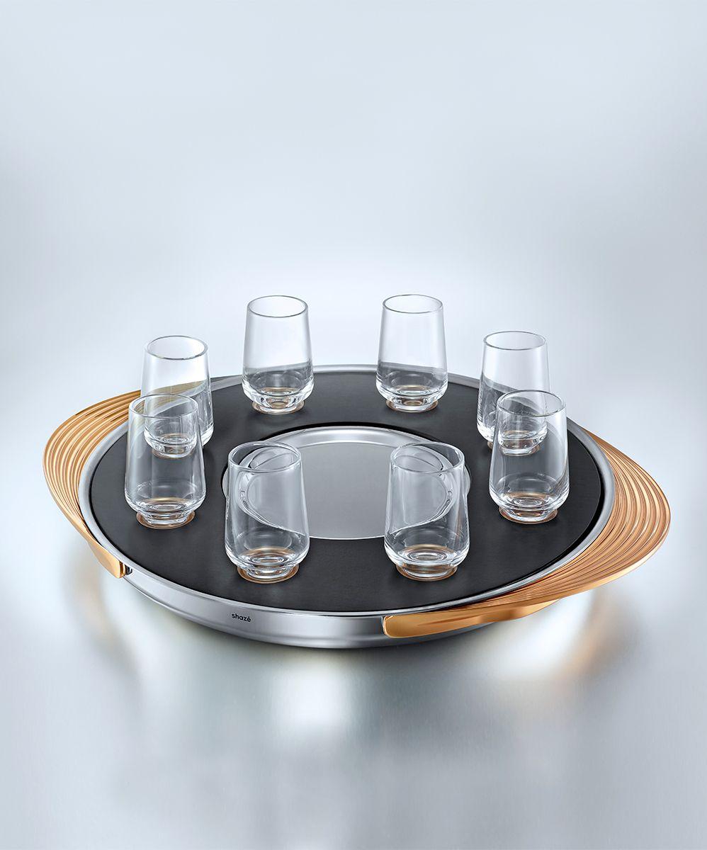 SHAZE| turntable shots tray