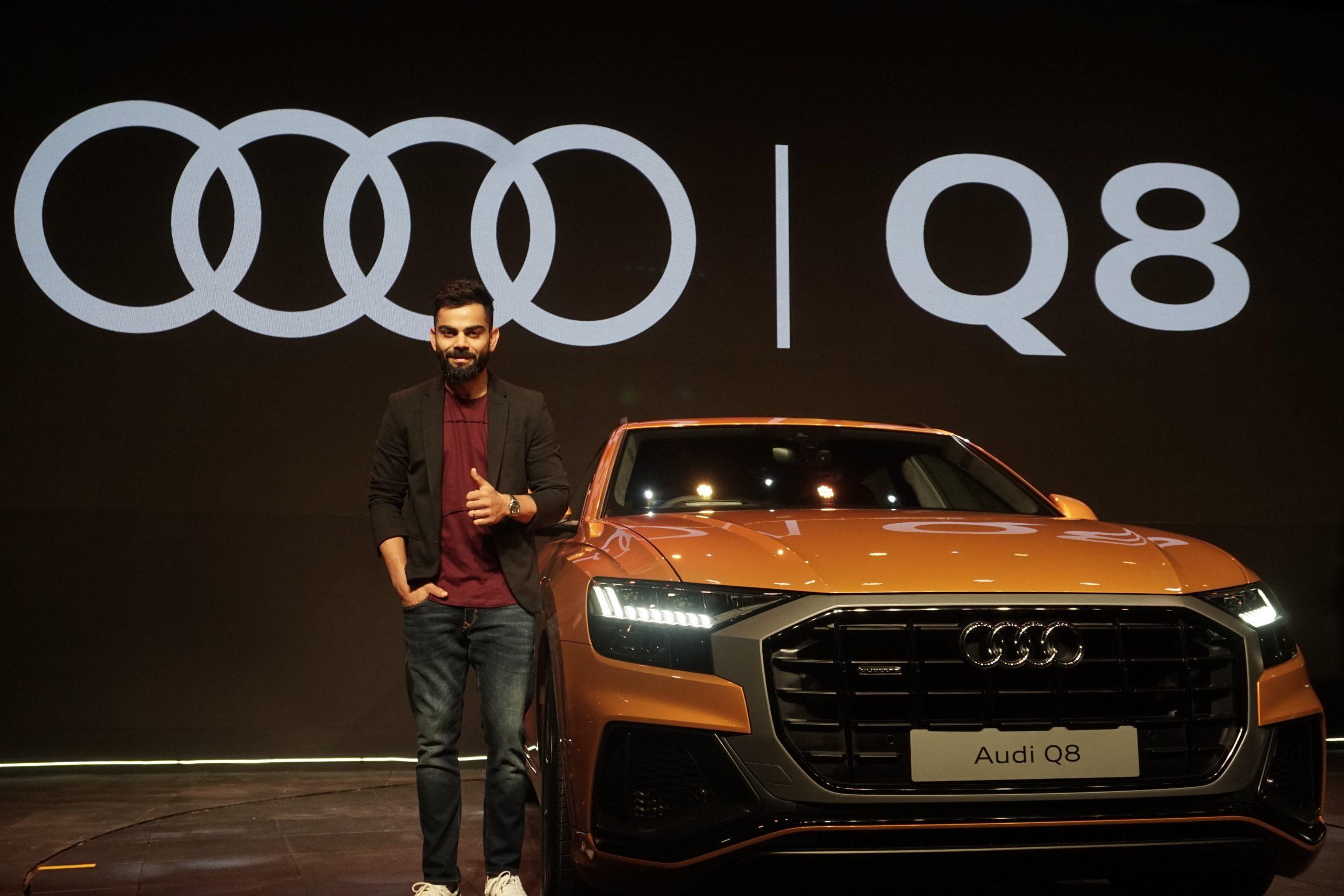 Indian skipper Virat Kohliat the launch of Audi Q8