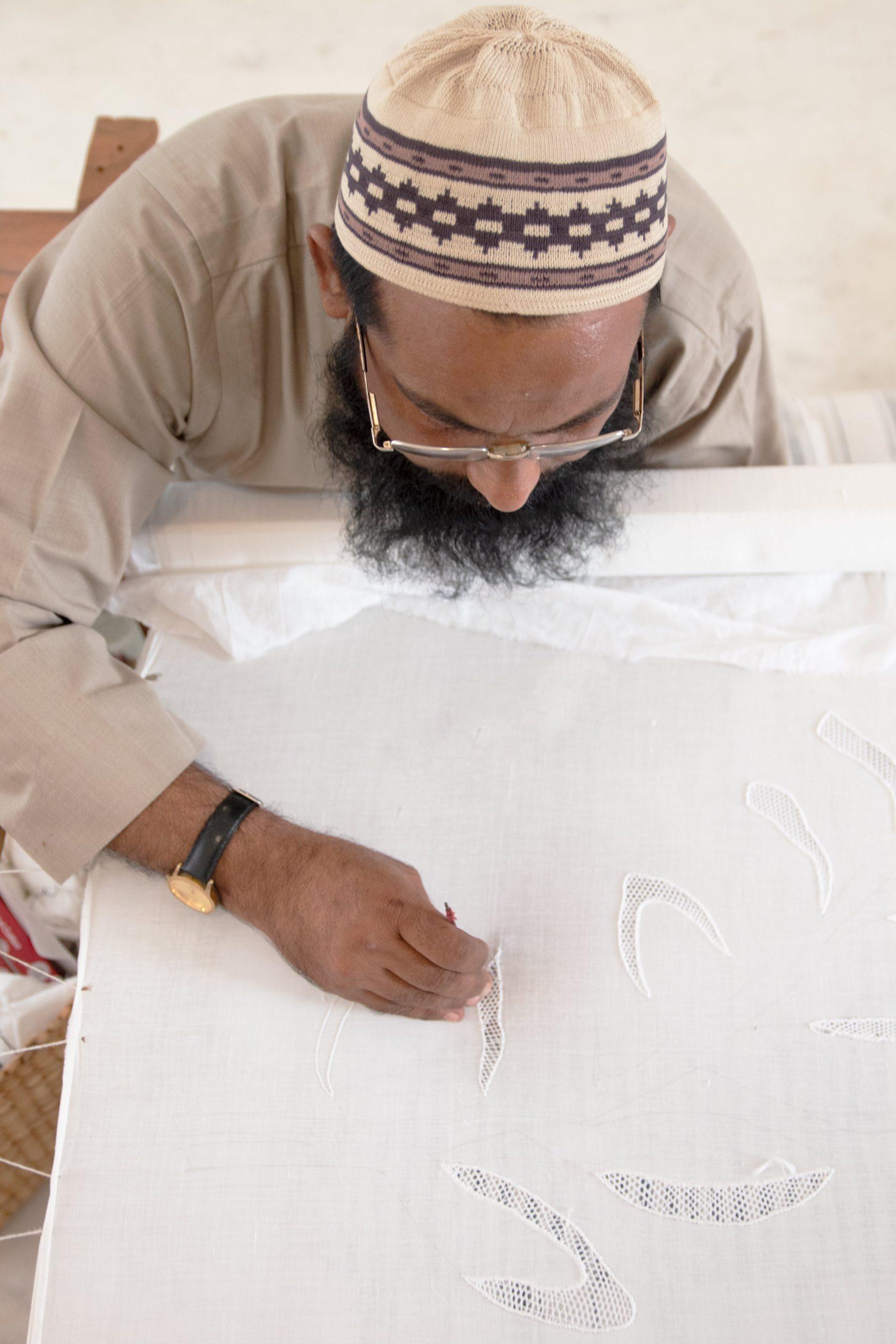 Masroor Ali- master embroiderer at Nila Studio_Image courtesy Nila House Jaipur