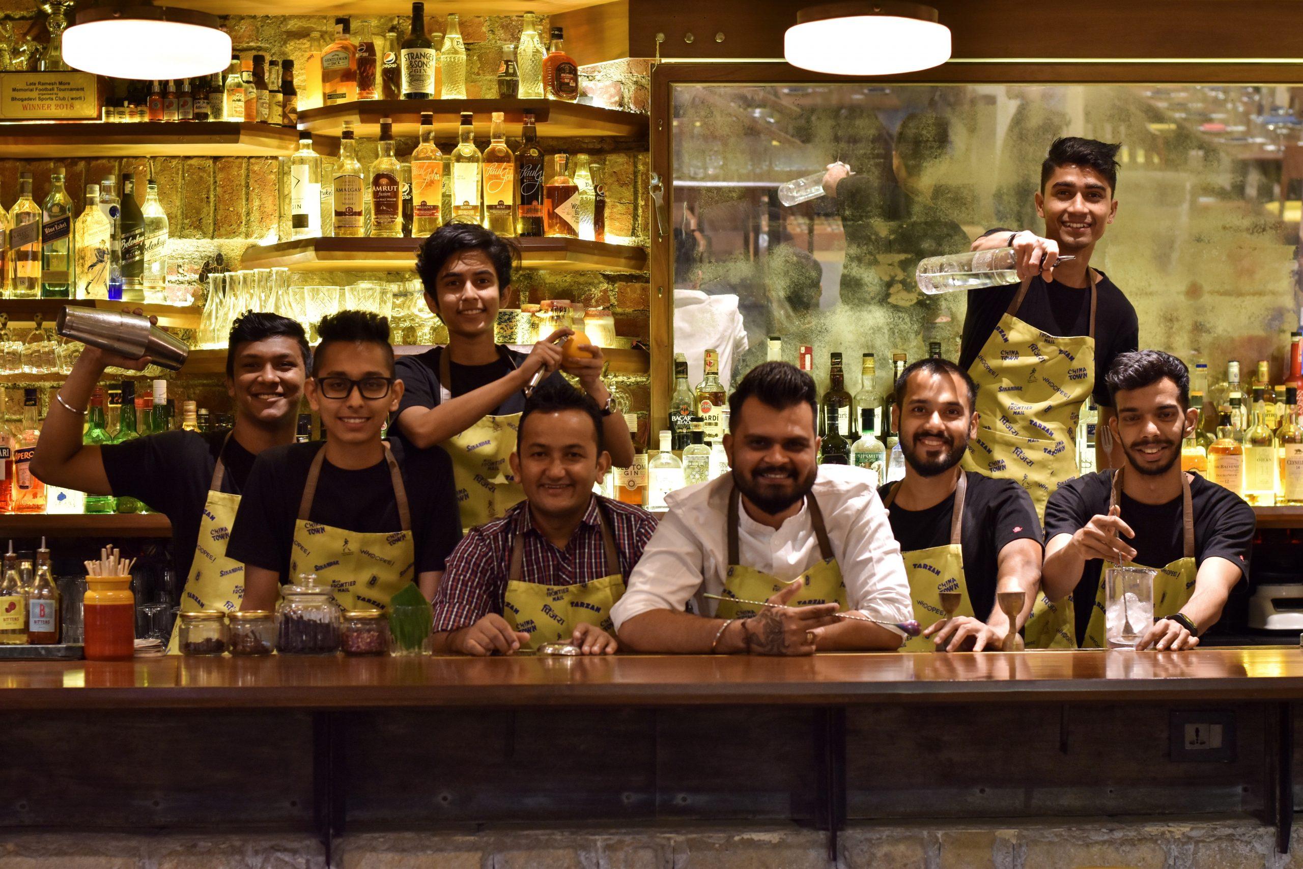 The Bombay Canteen Bar Team (L to R)Sarvesh, Meet, Trisha, Deepak, Rahul, Palash, Prathmesh, Winton