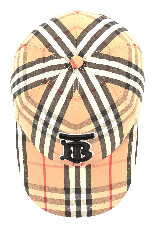 Monogram motif vintage check baseball cap, Burberry