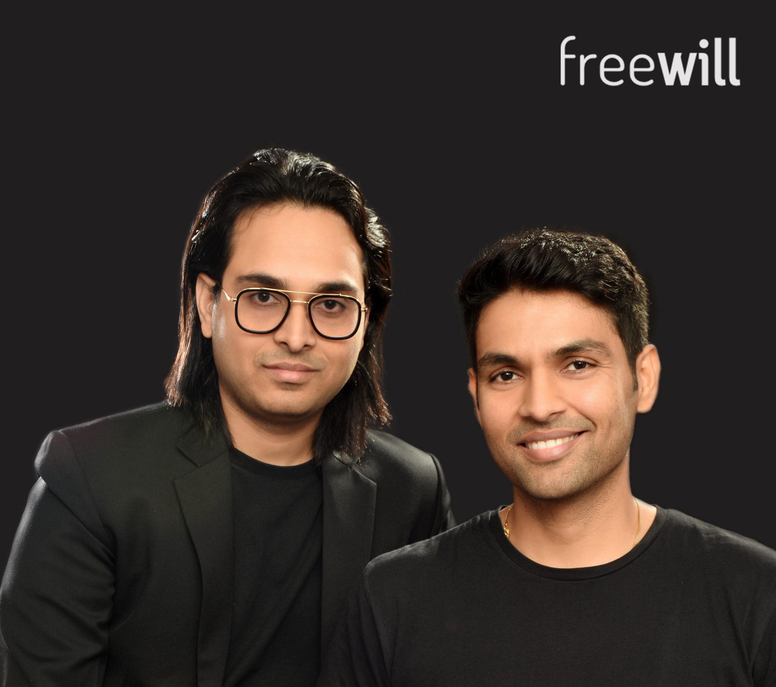 L-R)Mohit Yadav, Rahul Yadav- Founders, Freewill