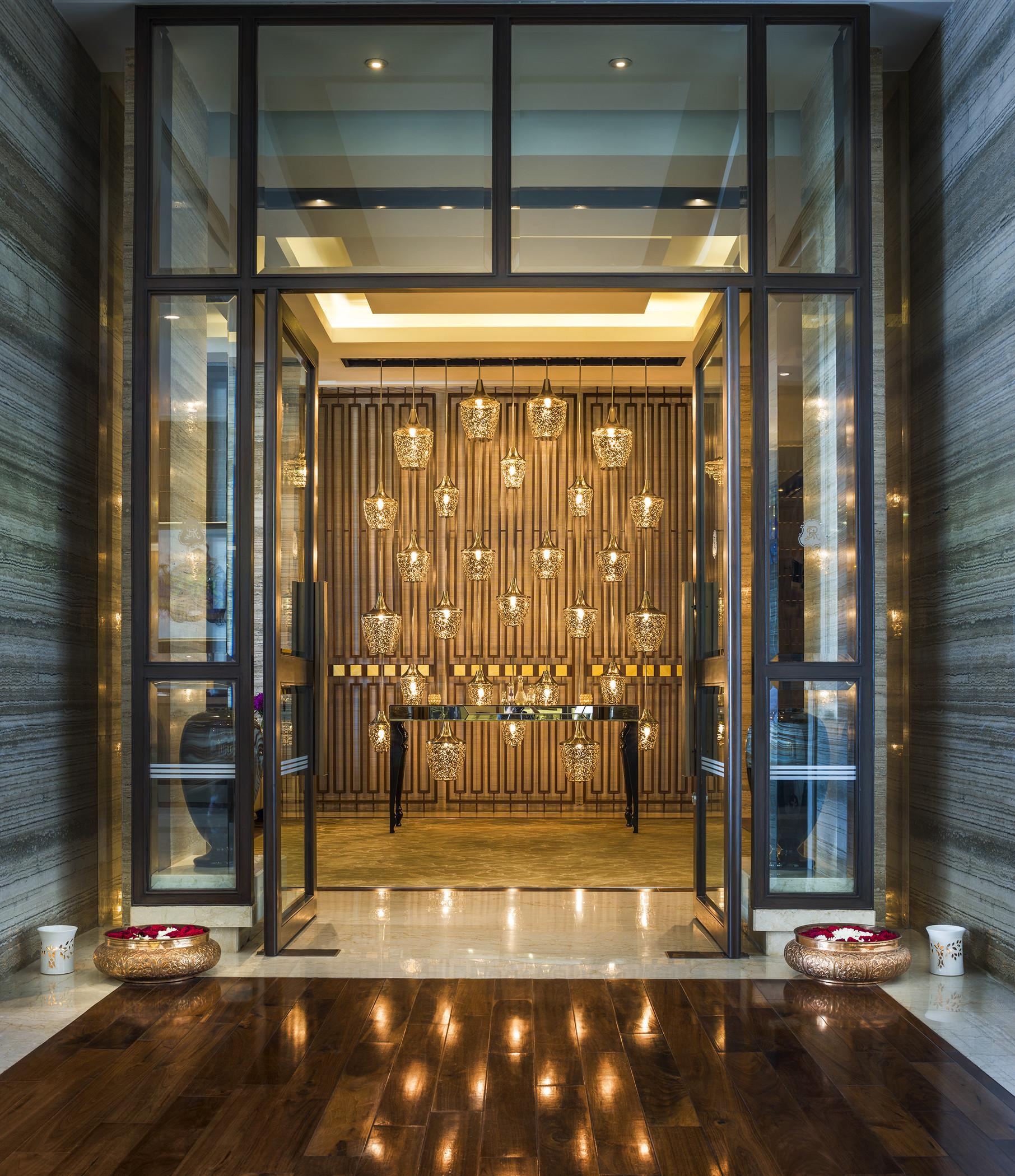 Entrance to the Iridium spa, St. Regis Mumbai