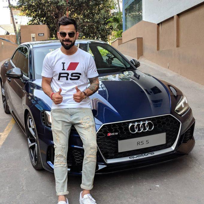 Virat Kohli with his Audi RS5
