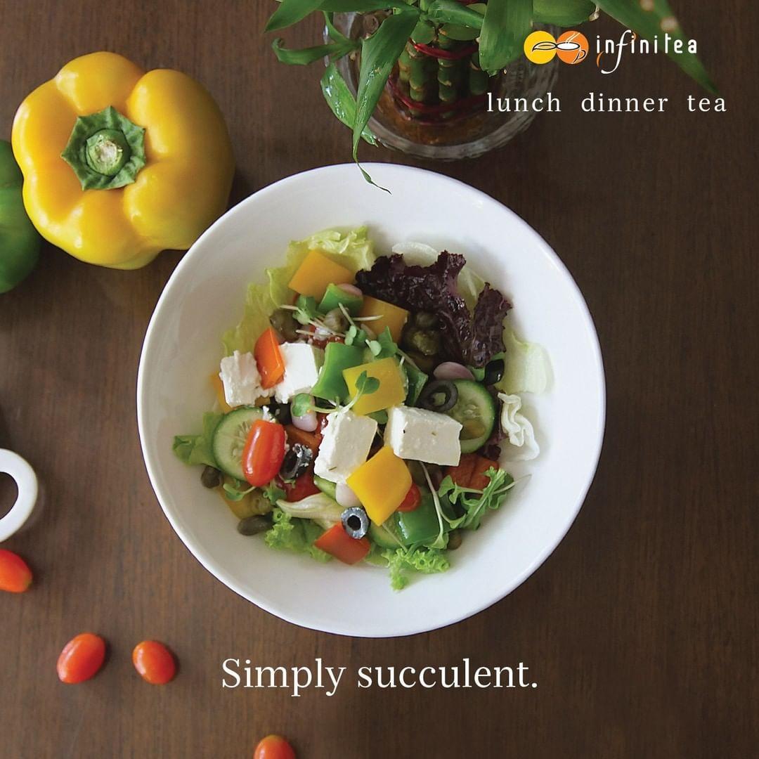 Greek salad at Infinitea tearoom