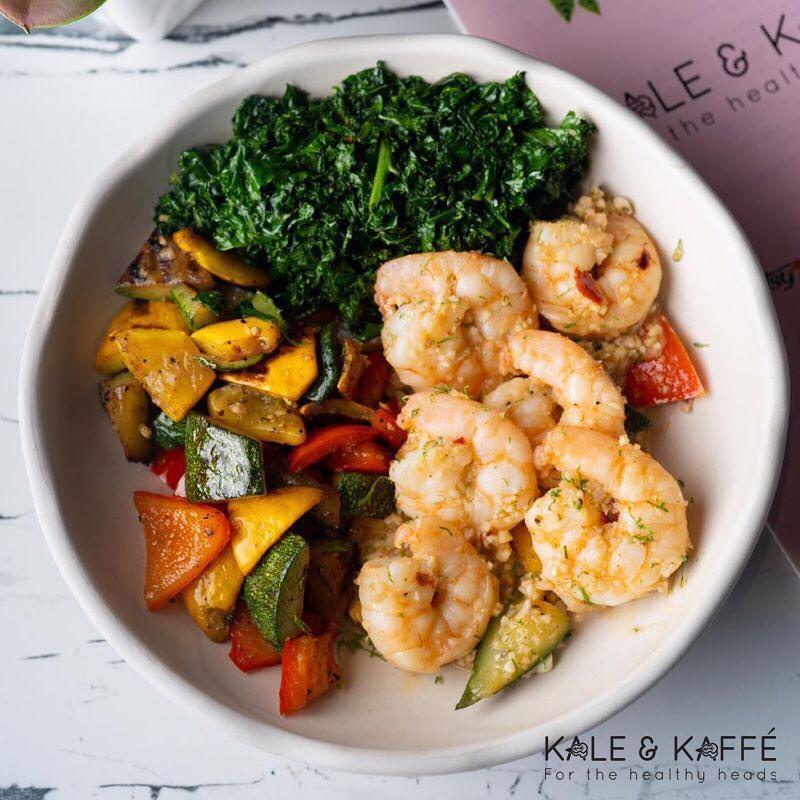 Keto butter garlic prawns, Kale and Kaffe