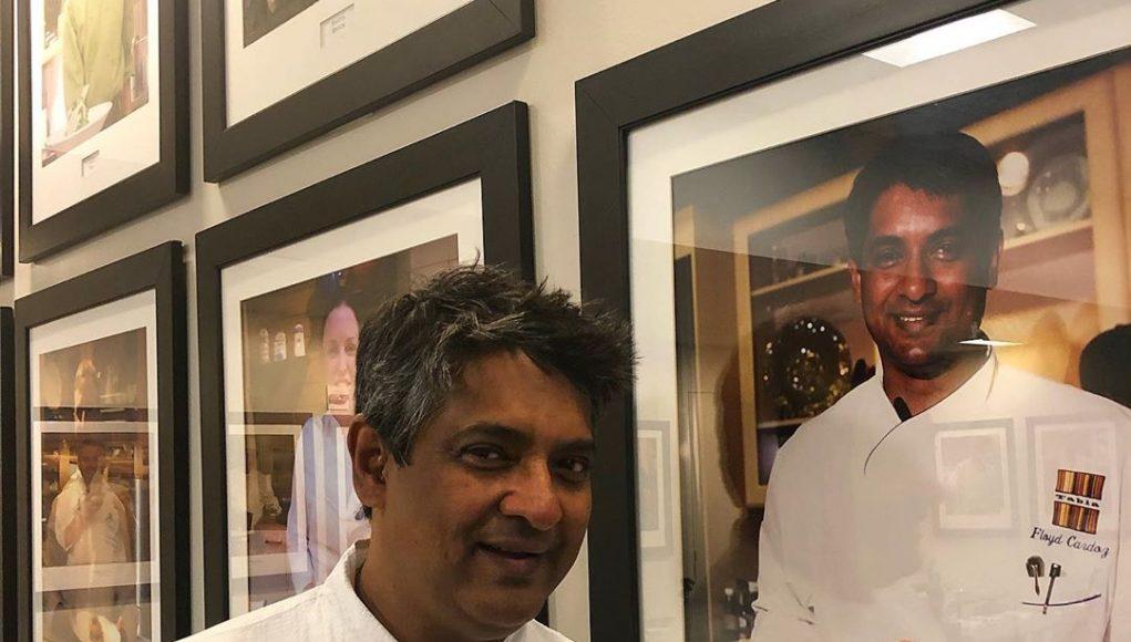 Chef Floyd Cardoz at DeGustibus Cooking School in NYC