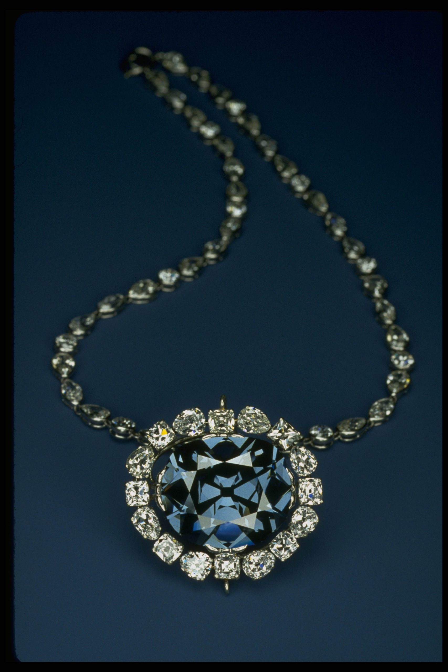 The Hope diamond necklace
