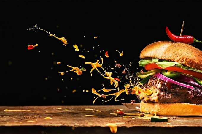 Food photography- burger