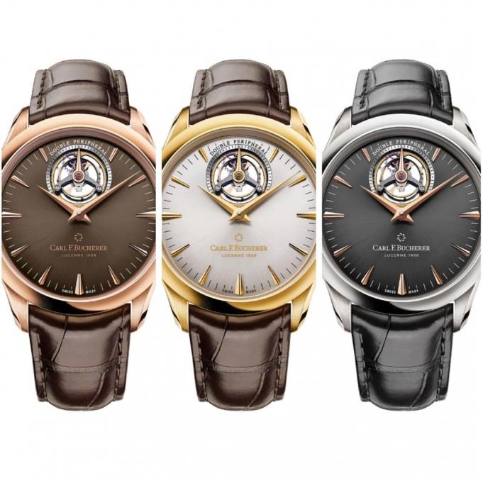 Carl F. Bucherer's Manero Tourbillon Double Peripheral watches. Image courtesy: Mitrajit Bhattacharya