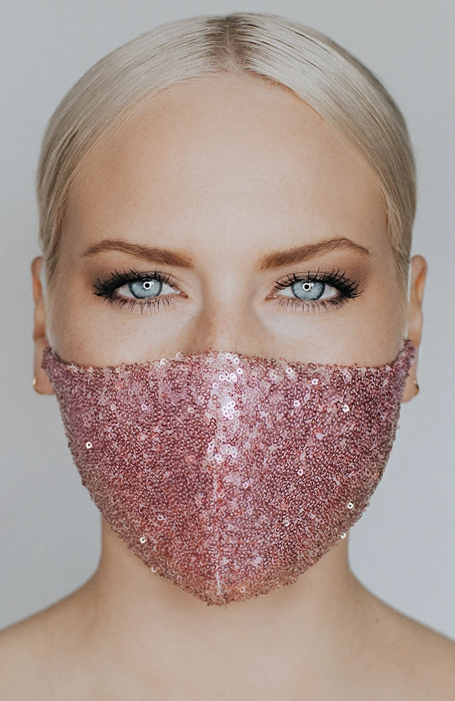 Disco Ball mask by Katie May