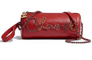 Chanel red handbag