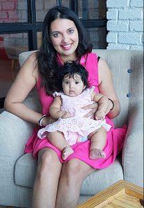 Nikhila Palat with her daughter Nivaya