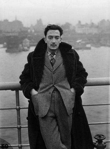 Salvador Dali in Teddy bear coat. Source: Mason & Sons
