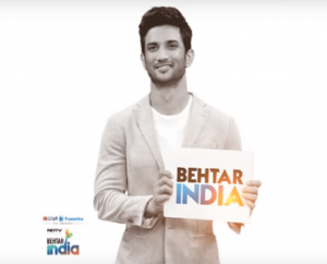 Sushant Singh Rajput for Behtar India