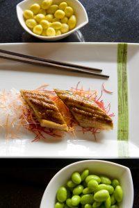 Unagi sushi, Wasabi by Morimoto