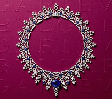 Sapphire Lace Necklace
