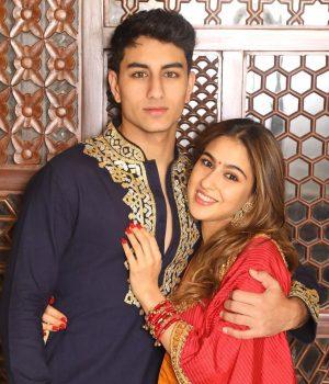 Ibrahim and Sara Ali Khan. Source: Instagram - Sara Ali Khan