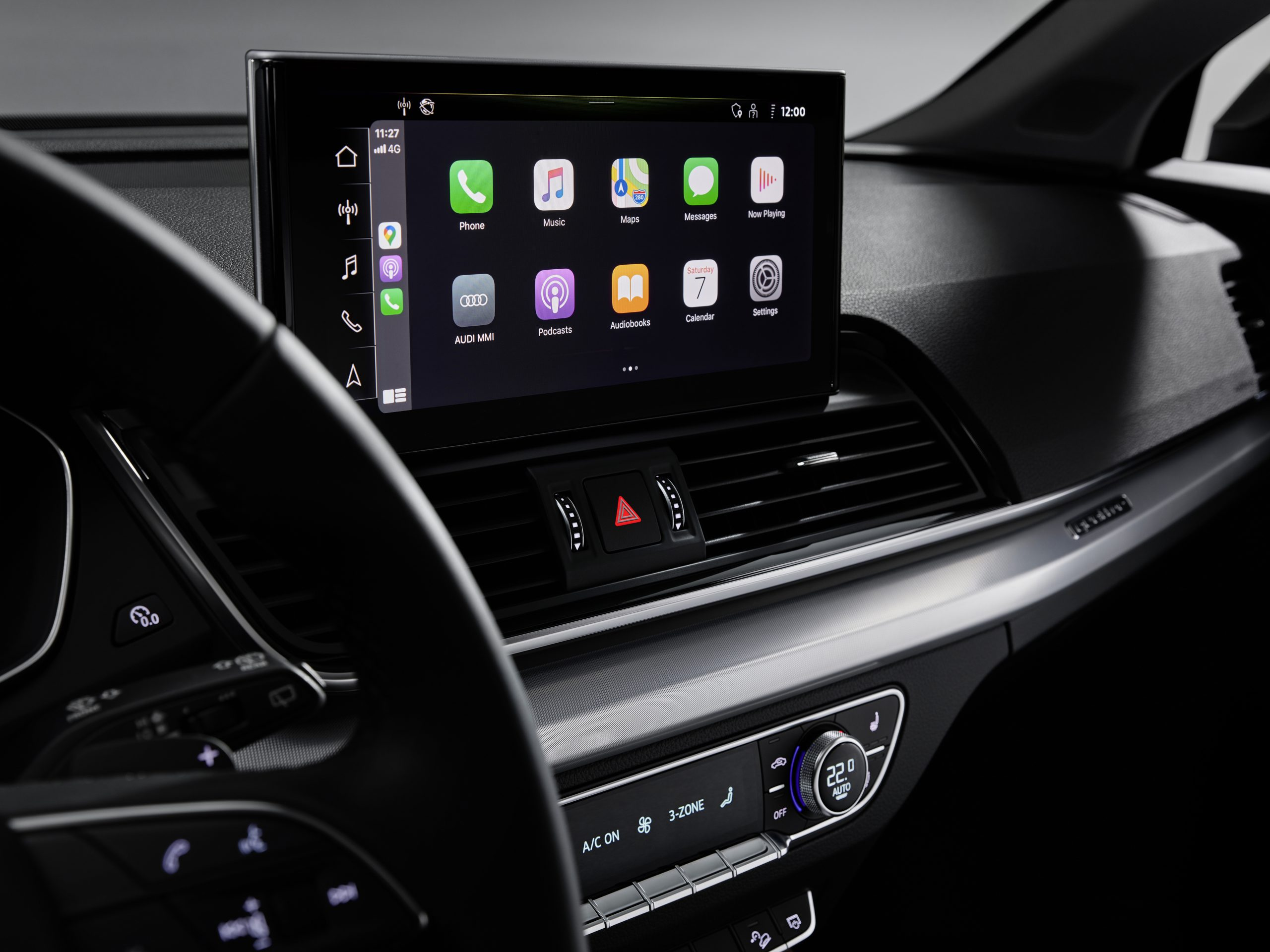 The 10.1-inch touchscreen unit