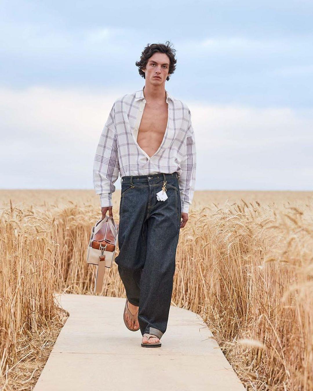 Jacquemus workwear denim jeans