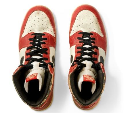 Air Jordan 1 High Shattered Backboard Sneakers. Courtesy: Christie's