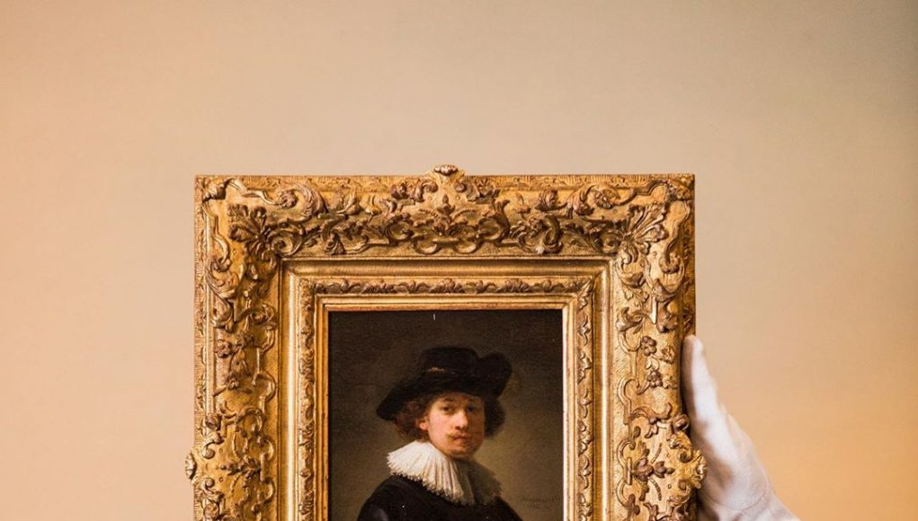 Self Portrait by Rembrandt. Sourse: Instagram - Sotheby's
