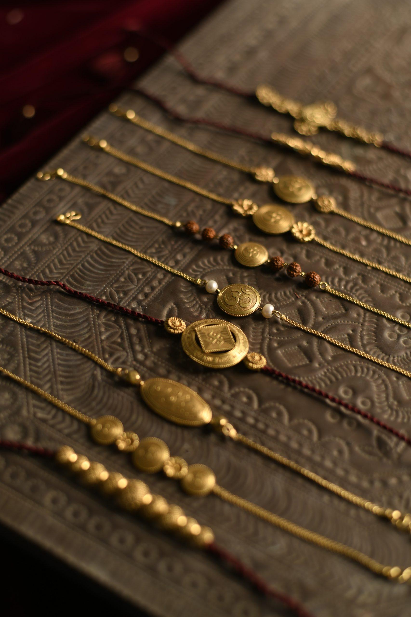 Gold Rakhis. Courtesy: Harit Zaveri