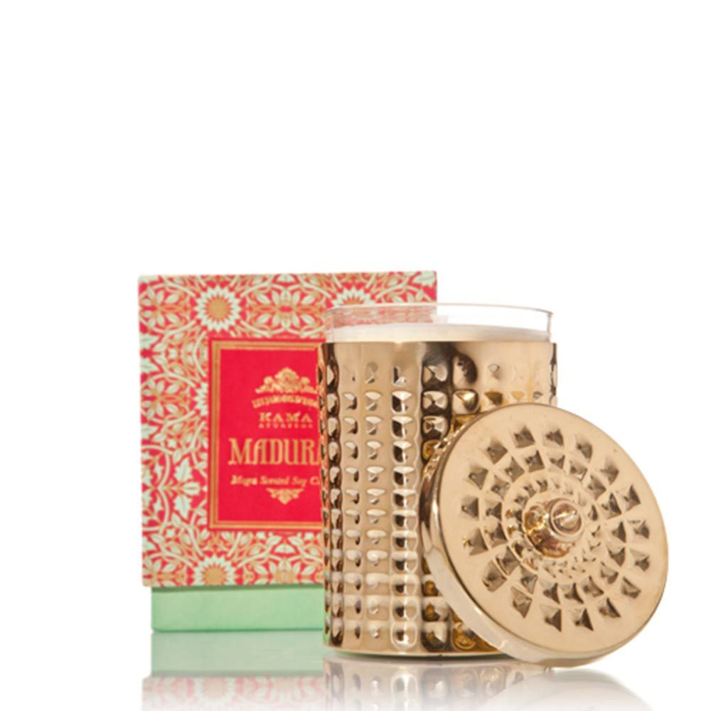 Kama Ayurveda Madurai Candle with Brass Holder. Source: Kama Ayurveda