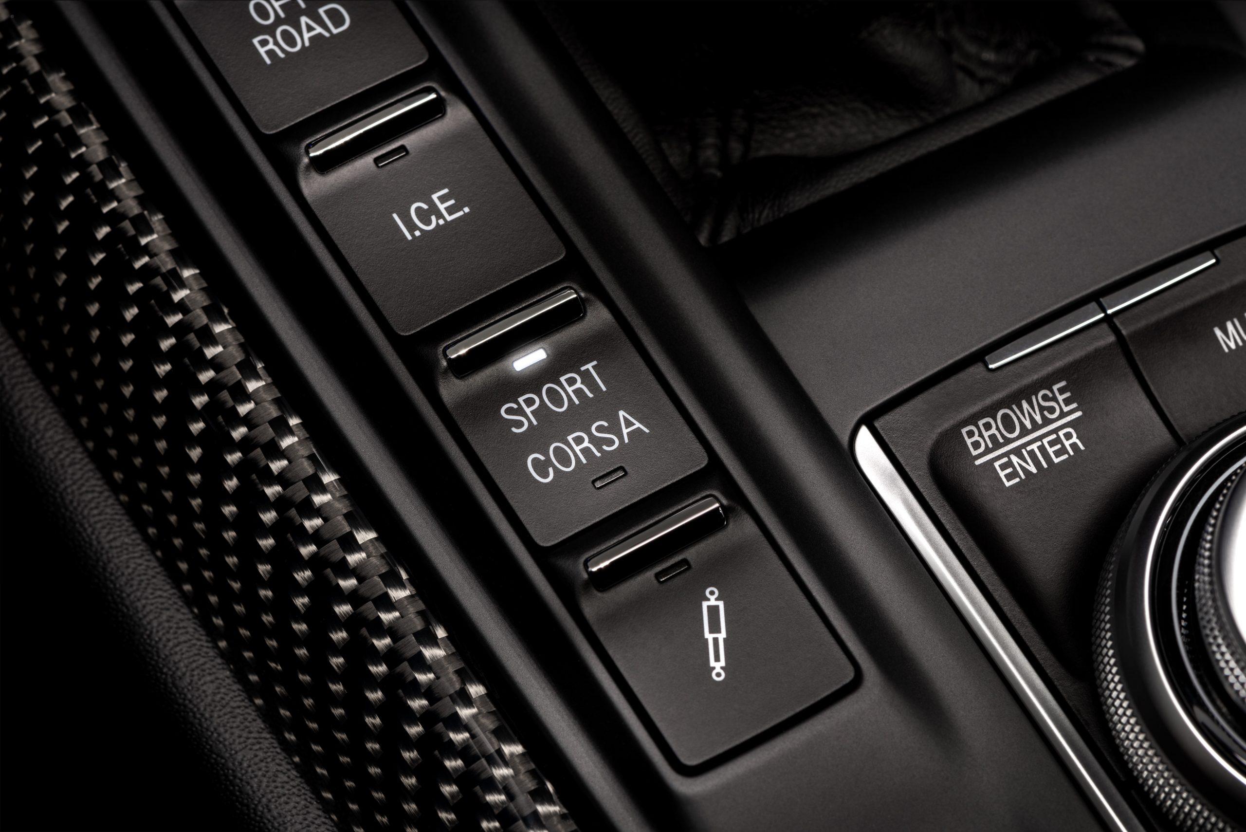 The Corsa button facilitates a sportier driving experience