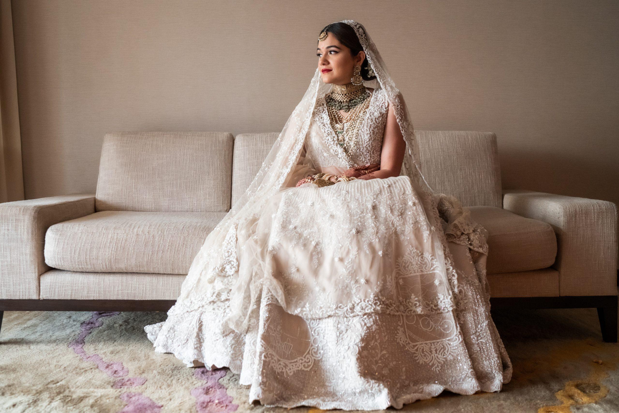 Anjali Merchant in Kresha Bajaj Love Story Lehenga