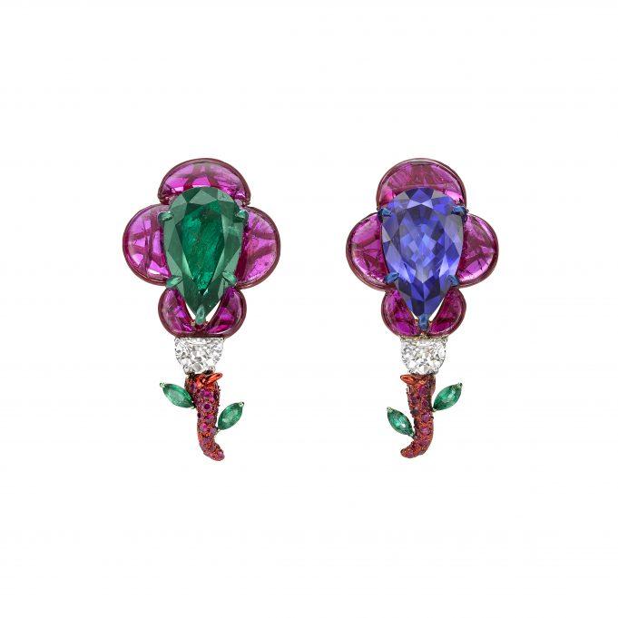 elephant earrings by Bina Goenka for Gemfields
